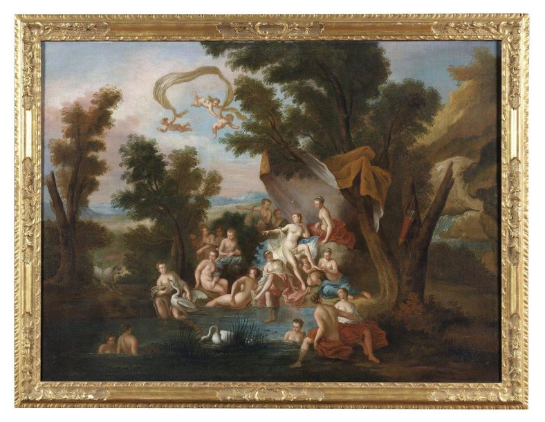 17th CENTURY FRENCH ARTIST 17th CENTURY FRENCH ARTIST The bath of Diana with the…