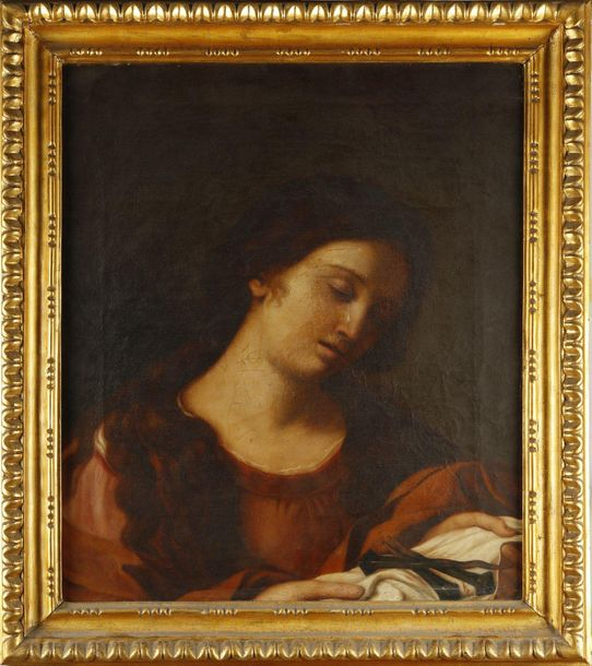 19th CENTURY ARTIST 19th CENTURY ARTIST Mary Magdalene with the nails of the cro…