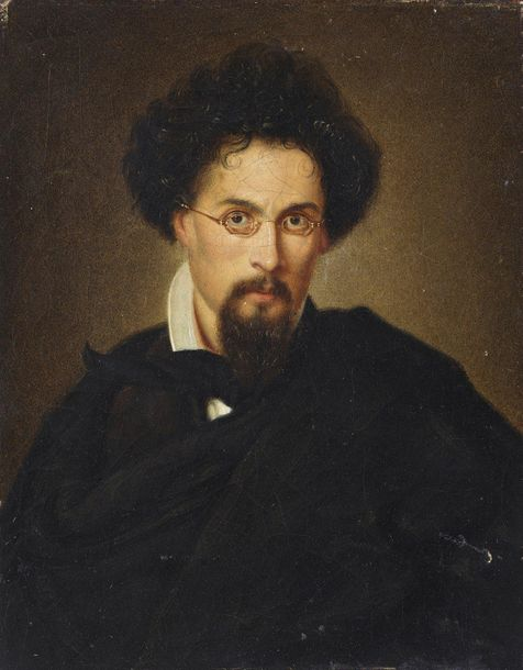 ARTISTA DEL XIX SECOLO ARTISTA DEL XIX SECOLO Portrait of man with glasses. ARTI…