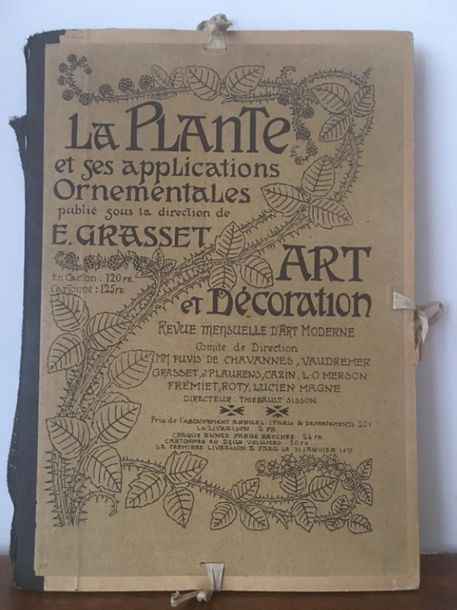 [Art Nouveau]. GRASSET (Eugène). La plante et ses applications ornementales. Paris,…