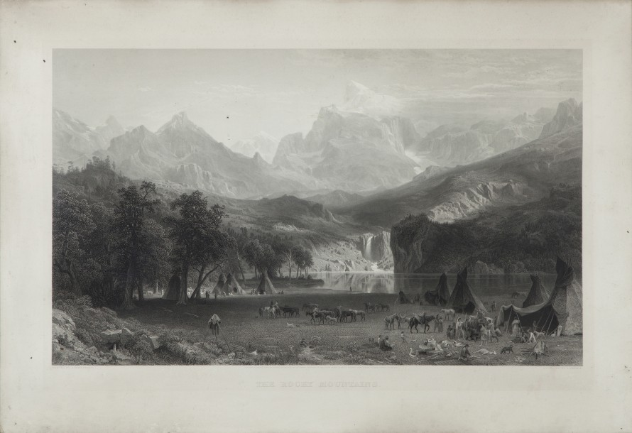 BIERSTADT Albert (1830-1902), d'après, et SMILLIE James David (1833-1909). The rocky…