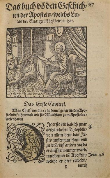 * [BIBLE illustrée. N.T. Allemand. 1570]. Das New Testament nach alter in christ…
