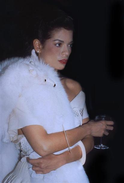 BIANCA JAGGER. By Rose Hartman. Private party, Halston's townhouse. 1978. Tirage…
