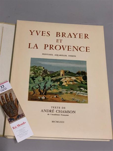 [BRAYER]. CHAMSON (André). Yves Brayer et la Provence. Paris, Arthaud, 1962. In-4,…