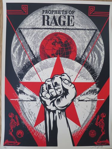 Shepard Fairey Shepard Fairey (Obey)  Prophets Of Rage New Day Rising, 2017  Sér…