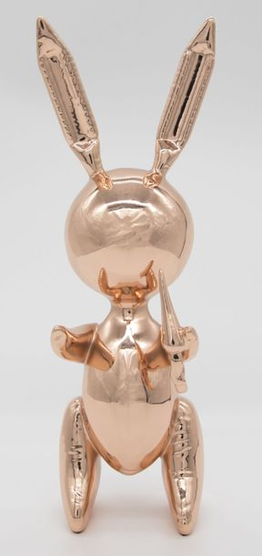 Jeff Koons Jeff Koons (d'arpès) Rose Gold Rabbit Alliage de zinc    Editions Stu…