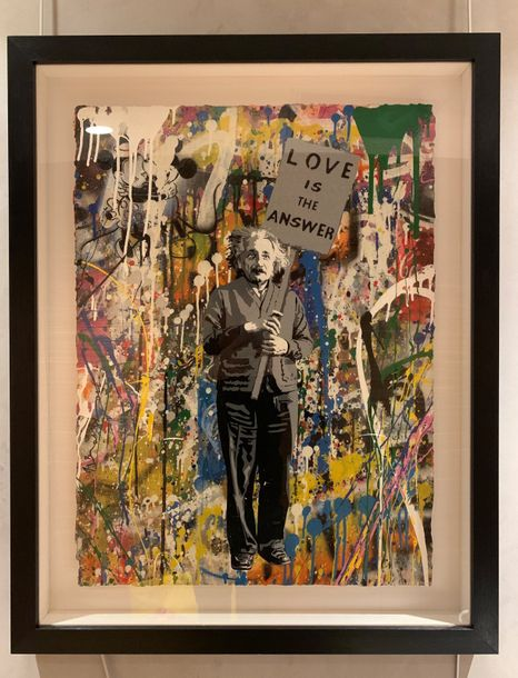 MR. Brainwash Mr. Brainwash (Thierry Guetta)  Albert Einstein, Love is the answe…