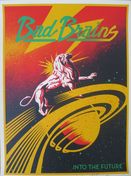 Shepard Fairey Shepard FAIREY (Obey)  Bad Brains Fully Band, 2012    Sérigraphie…