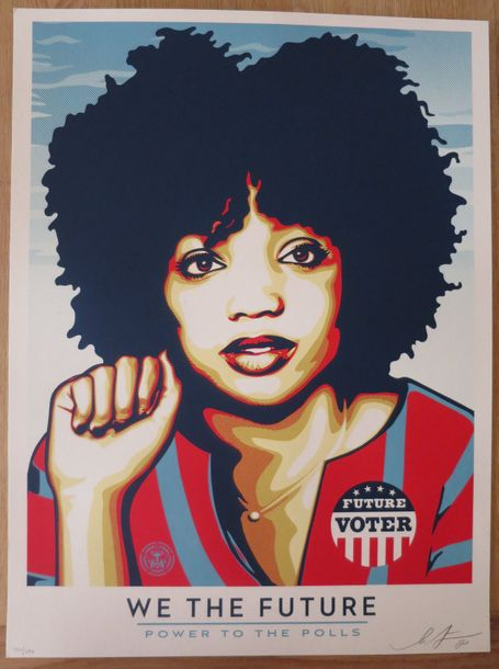 Shepard Fairey Shepard Fairey (Obey)  We the future power to the polls    Sérigr…