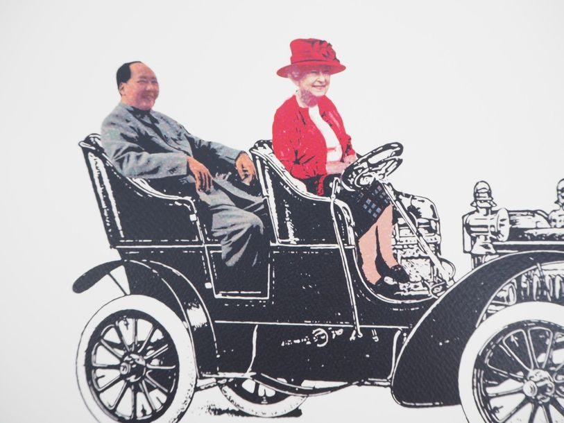 Death NYC Death NYC  Queen and Mao car    Sérigraphie originale de Death NYC Art…