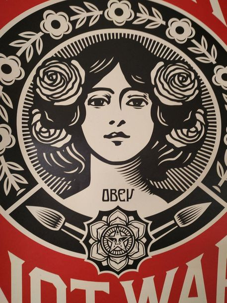 Shepard Fairey Shepard Fairey (OBEY)  Make Art Not War    Impression Offset sur …