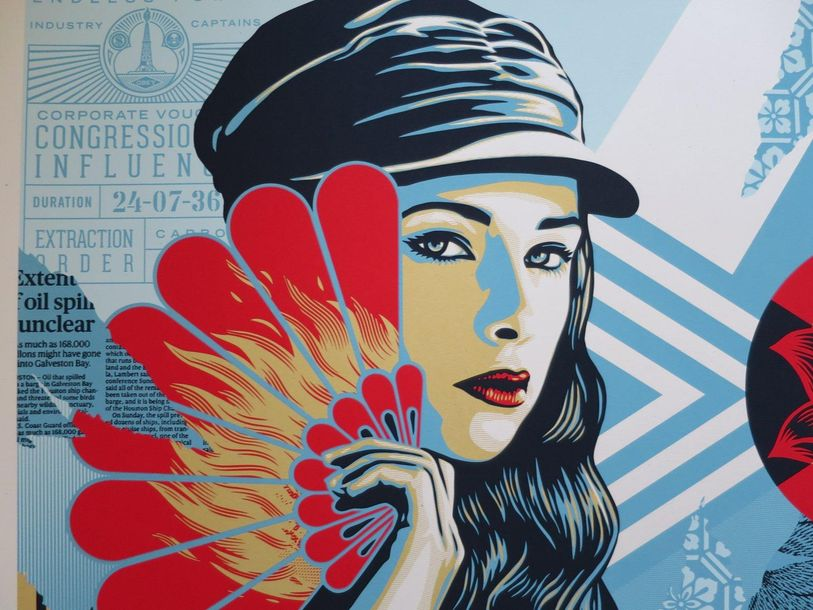Shepard Fairey Shepard Fairey (Obey)  Obey Fan the Flames, 2019     Sérigraphie …