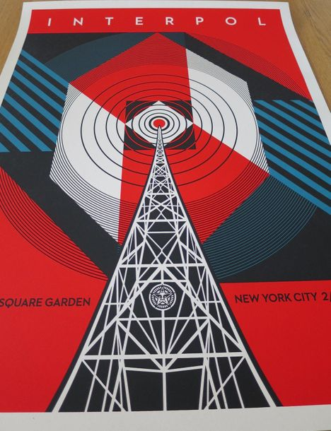 Shepard Fairey Shepard FAIREY (Obey)  Interpol NYC Calling, 2019    Sérigraphie …