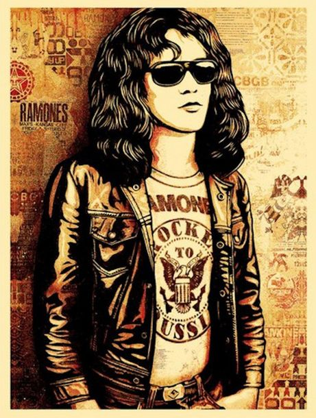 Shepard Fairey Shepard FAIREY (Obey)  Tommy Ramone (Red), 2016    Sérigraphie su…