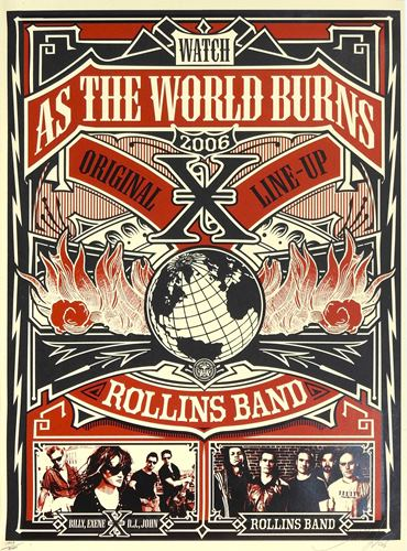 "SHEPARD FAIREY dit obey 2006 Shepard Fairey dit Obey  ""Band Rollins Band X"", 200…"
