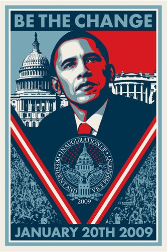 Shepard Fairey (OBEY) Be The Change Offset Print Shepard Fairey (OBEY) Be The Ch…