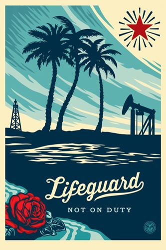 Shepard Fairey OBEY (USA, 1970) LIFEGUARD NOT ON DUTY Sérigraphie signée et daté…