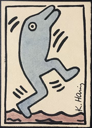 Keith HARING (1958 1990) Dessin à l'encre et aquarelle circa 1985/89 Keith HARIN…