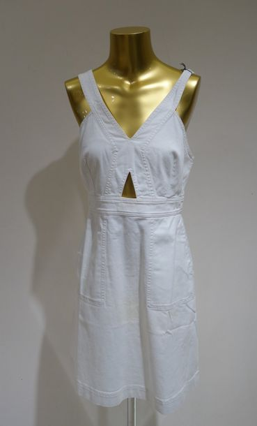 STELLA MC CARTNEY  Robe jean Blanc T  Taille 38  Prix de vente boutique 525 eur…