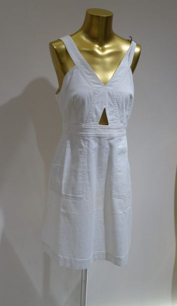 STELLA MC CARTNEY  Robe jean Blanc  Taille 44  Prix de vente boutique 525 euros