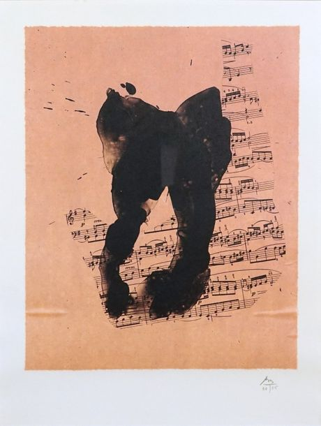 Robert MOTHERWELL (1915 1991). Music for J.S. Bach, 1989. Lithographie sur Chine…