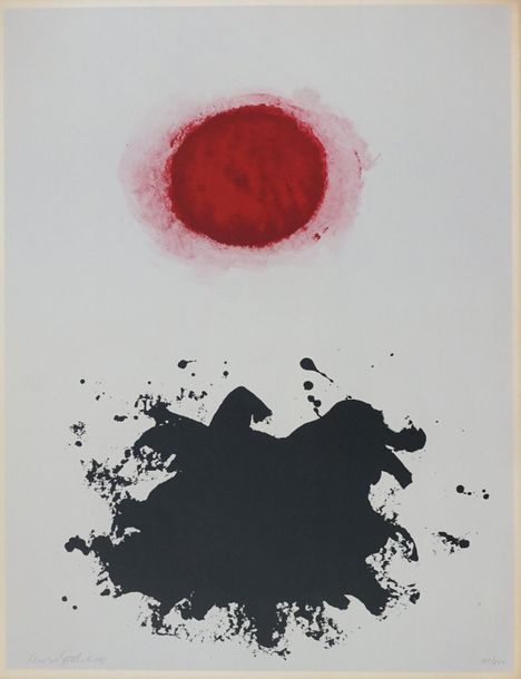 Adolph GOTTLIEB (1903 1974). Black Splash Under Red Sphere, 1965. Lithographie. …