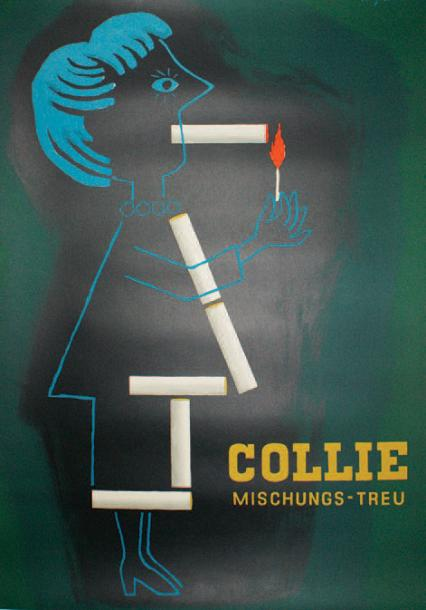 "ARCHIVES DE MR ALAIN WEILL COLLIE. ""MISCHUNGS-TREU"". 1952 Reemtsma - 118 x 86 cm…"