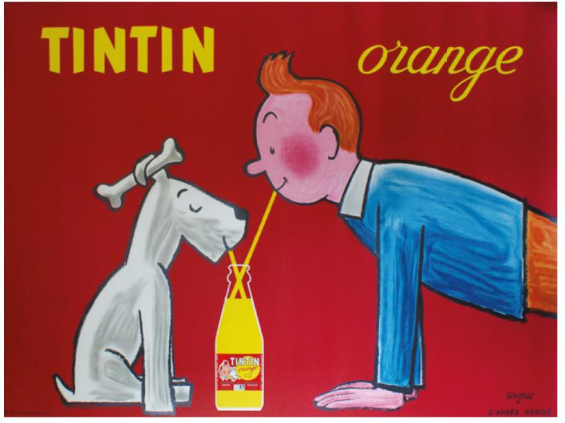 ARCHIVES DE MR ALAIN WEILL TINTIN ORANGE. 1962 (d'après Hergé) Imp.Hénon, Paris -…