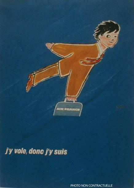 "ARCHIVES DE MR ALAIN WEILL AIR FRANCE. ""J'Y VOLE DONC J'Y SUIS"". 1970 U & O, Paris…"