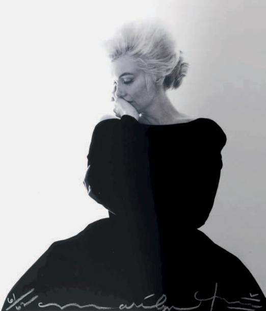 BERT STERN 1929-2013 Marilyn Monroe, Dior black dress, Vogue, 1962. Tirage iris 2012,…