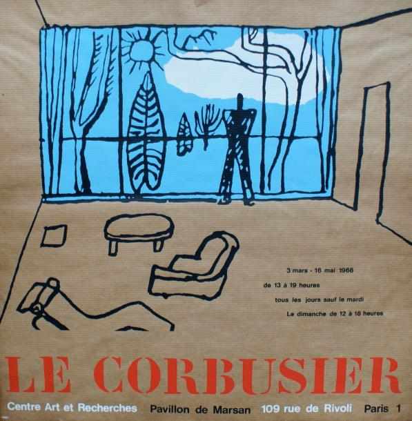 LE CORBUSIER (1887 1965) PAVILLON DE MARSAN, Paris Affiche de l'exposition LE CO…