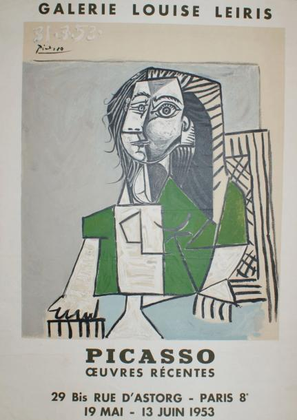 "PICASSO Pablo (1881 1973) Galerie Louis Leiris.""PICASSO OEUVRES RÉCENTES"".1953 I…"
