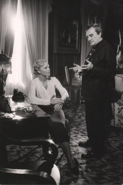 LES DAMNES - THE DAMNED Ingrid Thulin et Luchino Visconti, 1969. Tirage argentique…