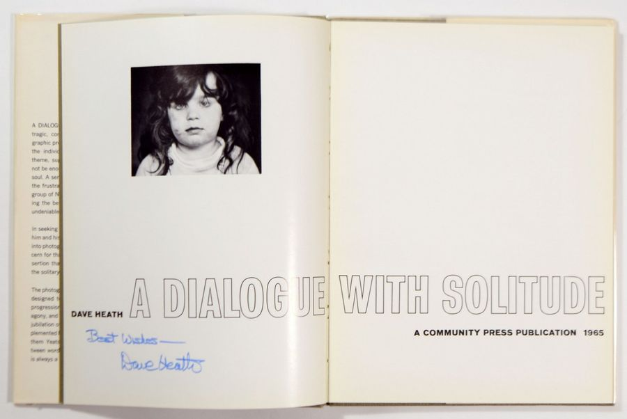 """DAVE HEATH 1931-2016 """"Dialogue with solitude"""", Community Press, distributed, New…"""