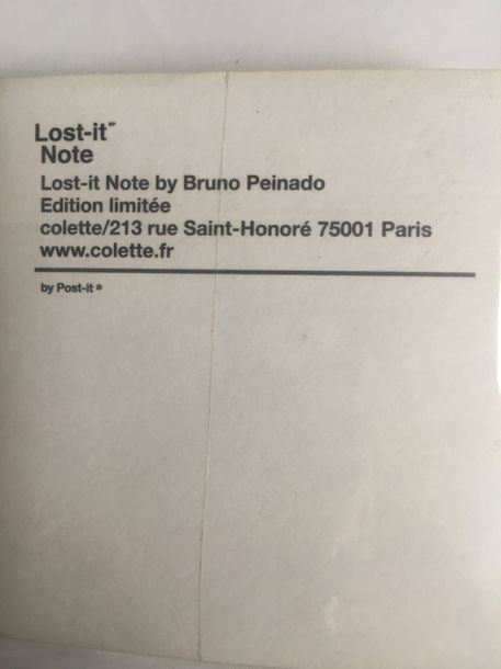 Bruno Peinado « Lost it Note » MUTIPLE D'OEUVRE D'ART. Provenance: . Édition lim…