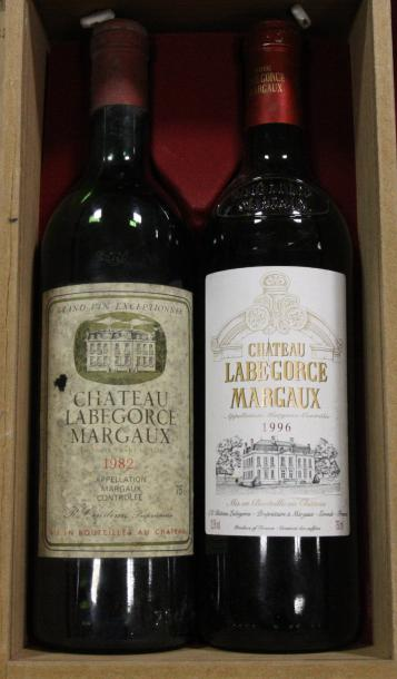 Lot de 2 btes Chateau LABEGORCE Margaux 1982 et 1996