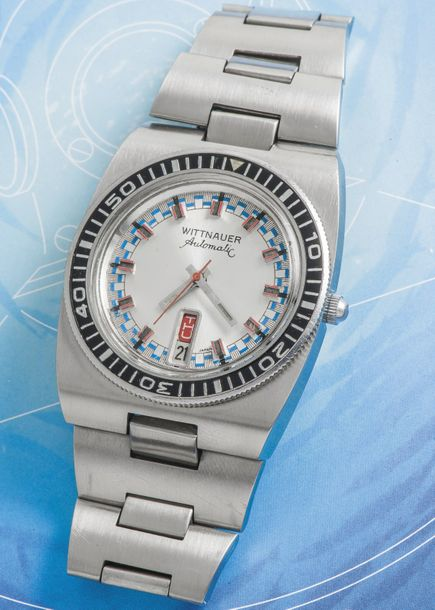 WITTNAUER WITTNAUER (Submarine Automatic Day Date – Argenté réf. 1001-W100), vers…