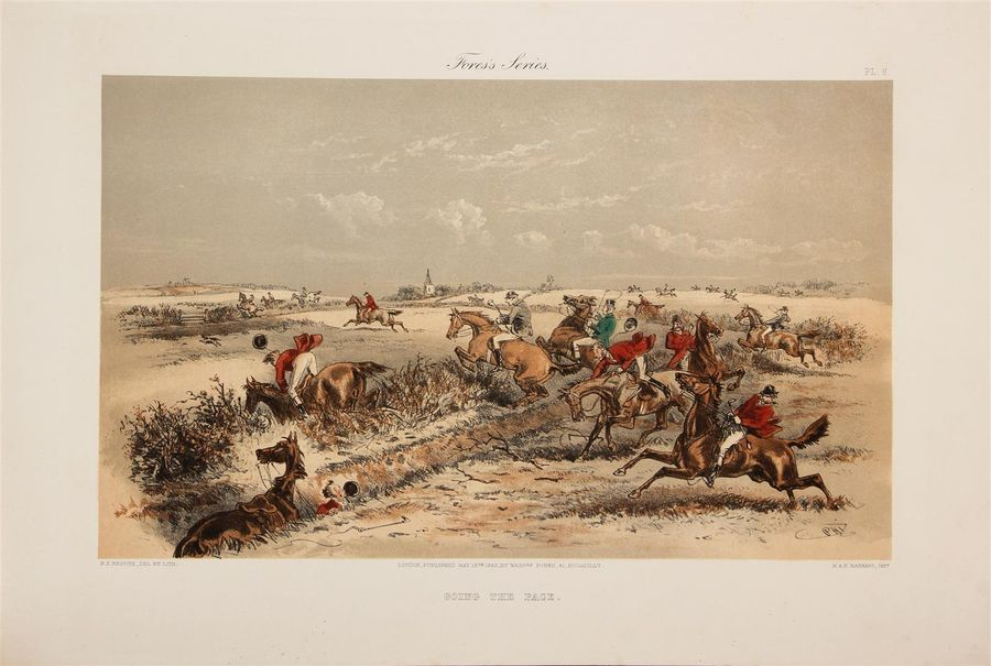 [CHASSE]. PHIZ (Hablot Knight bRowne, alias). A Run with the Stag-Hounds. London,…