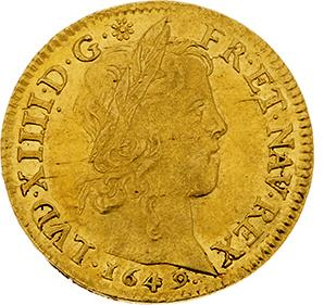 LOUIS XIV (1643-1715) Louis d'or à la mèche longue. 1649. Paris. D. 1422. TTB à…