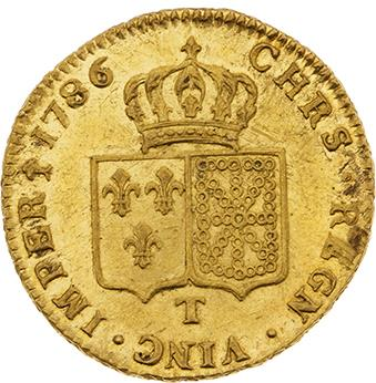 LOUIS XVI (1774-1793) Double louis d'or au buste nu. 1786. Nantes. D. 1706. Presque…