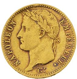 PREMIER EMPIRE (1804-1814) 20 francs or, tête laurée, revers Empire. 1811. Bordeaux.…