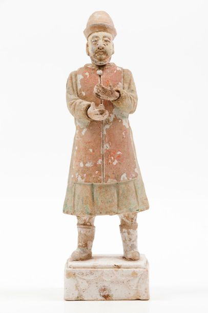 A foreigner A terracotta sculpture depicting a foreigner  With removable hands a…