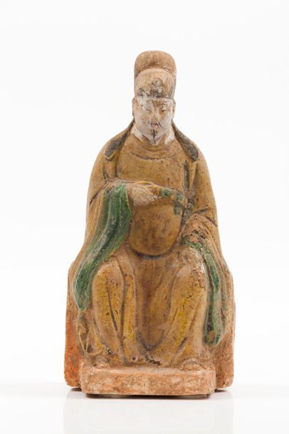 A terracotta figure of a dignitary, Ming Dynasty Terracotta sculpture depicting …