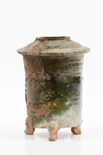 Model of a cereal granary Earthenware  Green lead glaze  Han Dynasty (202 BC 220…