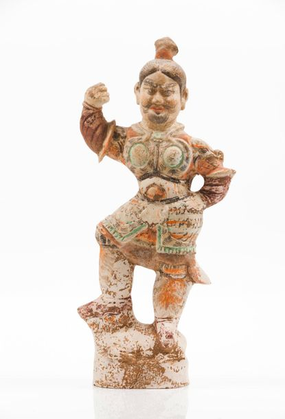 Lokhapala Terracotta sculpture  Evidence of painted decoration  Tang Dynasty (61…