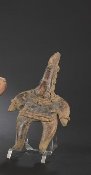 Statuette anthropomorphe Culture Colima, Mexique Protoclassique, 100 av. - 250 ap.…