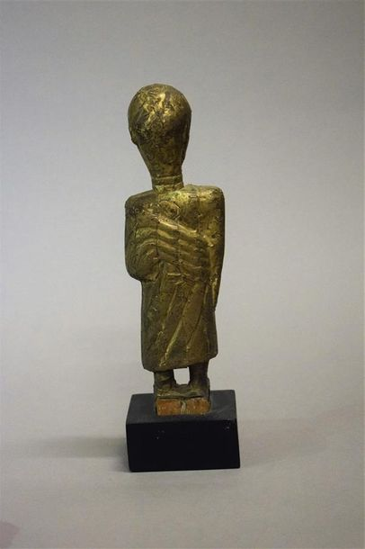 Figure Akan Ghana Bois, cuivre H. 26 cm Provenance : Galerie 62, Paris Collectio…