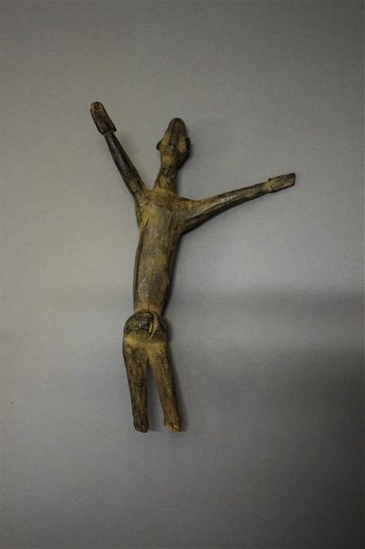 Figure Lobi Burkina Faso Bois H. 22 cm Provenance : Alain Lecomte, Paris Collect…