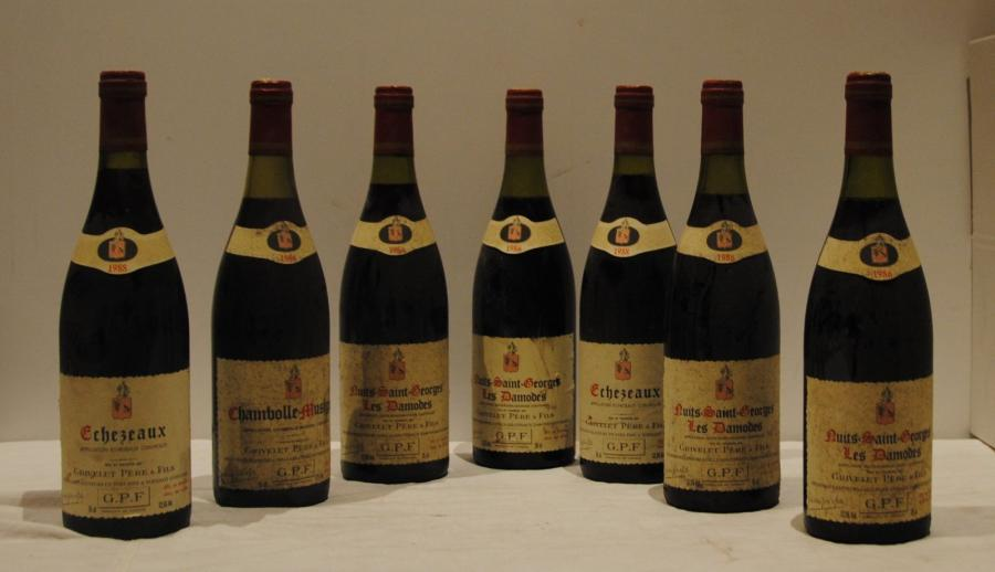 7 bout 2 ECHEZEAUX 1988, 4 NSG LES DAMODES 1986, 1 CHAMBOLLE MUSIGNY 1986