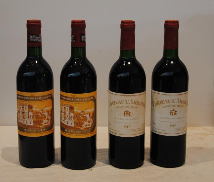 4 bout 2 CHT DUCRU BEAUCAILLOU 1985 2 CHT L'AROSEE 1987
